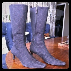 GUCCI Tall Fabric Boots